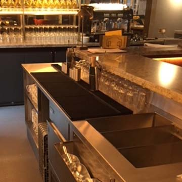 Caterware equipment Prosecco House kitchen